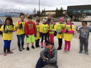 Students from Churchill Manitoba cleaning up their streets!